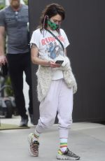 Lena Headey Outside her gym in Los Angeles