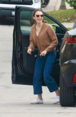 Lily Collins Arrives at a friend's house in LA