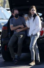 Lily Collins At a recycling center in Los Angeles