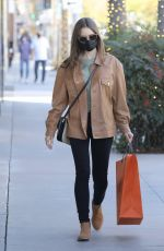 Lily Collins Heads out to do some shopping at Hermes in Los Angeles