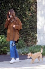 Lily Collins On a Morning stroll with Redford in LA