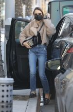 Lily Collins Shops for jewerly in Beverly Hills