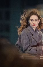 Lily James Displays a range of emotions as she