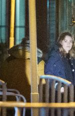 Lily James On the set of