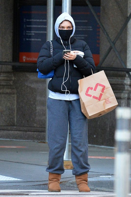Lily-Rose Depp In Winter outfit out in NY