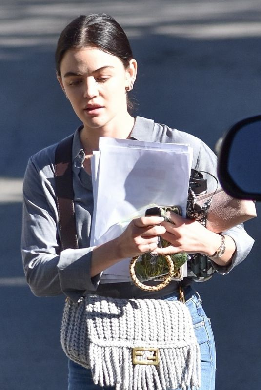 Lucy Hale At a business meeting in LA