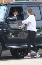 Lucy Hale Getting coffee from Bluestone Lane before going for a hike with a friend in Studio City