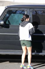 Lucy Hale Getting coffee with a friend in LA