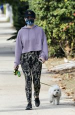 Lucy Hale Shows walking Elvis in Studio City