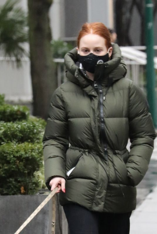 Madelaine Petsch Walking her dog in Los Angeles