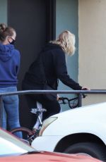 Malin Akerman Takes her son Sebastian shopping for a new bike in Burbank