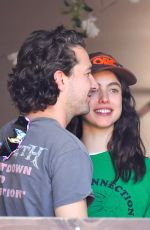 Margaret Qualley & Shia LaBeouf Looks happy together as they stop by a friend