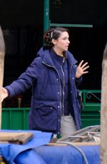 Matilda De Angelis At Set of Across The River And Into The Trees in Venice
