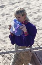 Miley Cyrus On the set of a new music video in Malibu