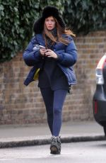 Millie Mackintosh At Morning walk out in London