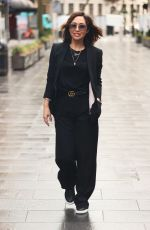 Myleene Klass Pictured for the first time since Dancing On Ice exit and looks chic in trouser suit in London