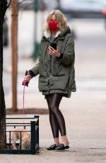 Naomi Watts Out in New York with her dog