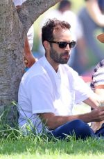 Natalie Portman Is pictured taking her kids to birthday parties and a surf lesson all in one day in Sydney
