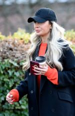 Olivia Attwood Out for an early afternoon walk in Castlefield in Manchester