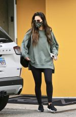 Olivia Munn Outside her gym in West Hollywood