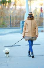 Olivia Palermo Walking Mr. Butler out in NY