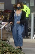 Paula Patton Makes a quick stop at the Vintage Grocers in Malibu