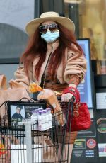 Phoebe Price Dressed up for a grocery run on Saturday in Los Angeles