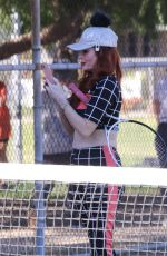 Phoebe Price Gets in a selfie before stretching for her work out in Los Angeles