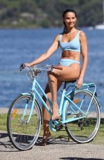 Rachael Finch On the set of a photoshoot at Nielsen Park in Sydney