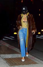Rihanna Out at night in New York