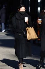 Rumer Willis Goes out for coffee with a friend while out in Manhattan