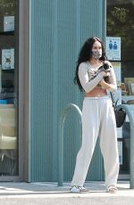 Rumer Willis Holding her new puppy in LA