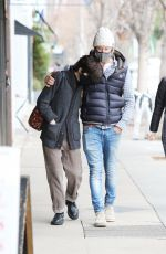 Selma Blair Braves the rain with her boyfriend Ron Carlson while out shopping at Hide & Seek in Studio City
