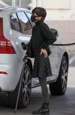 Selma Blair Stops for our cameras while pumping gas before meeting with her man for coffee in Los Angeles