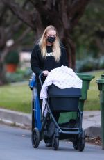 Sophie Turner Out with her baby girl Willa for an afternoon walk near her home in Los Angeles