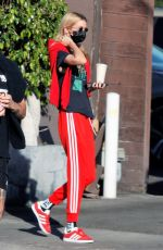 Stella Maxwell Enjoys some fresh air at the park with a friend in Los Angeles