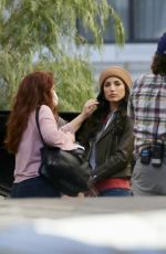 Tania Raymonde On set of