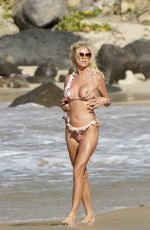 Victoria Silvstedt Seen on the beach in St.Barths, French West Indies