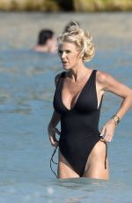 Victoria Silvstedt Shows off her incredible physique while enjoying the sun in St. Barts