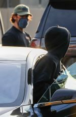 Zoey Deutch In a parking lot near the entrance to their gym even though there were plenty of empty spots available in Los Angeles