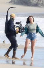 Addison Rae Has a blast during a beach photoshoot in Malibu