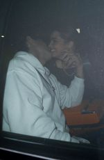 Addison Rae Leaving dinner with her boyfriend at Catch LA in West Hollywood