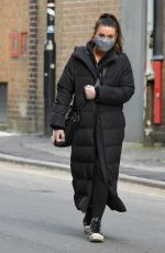 Alison King Seen out for daily exercise in Manchester city centre