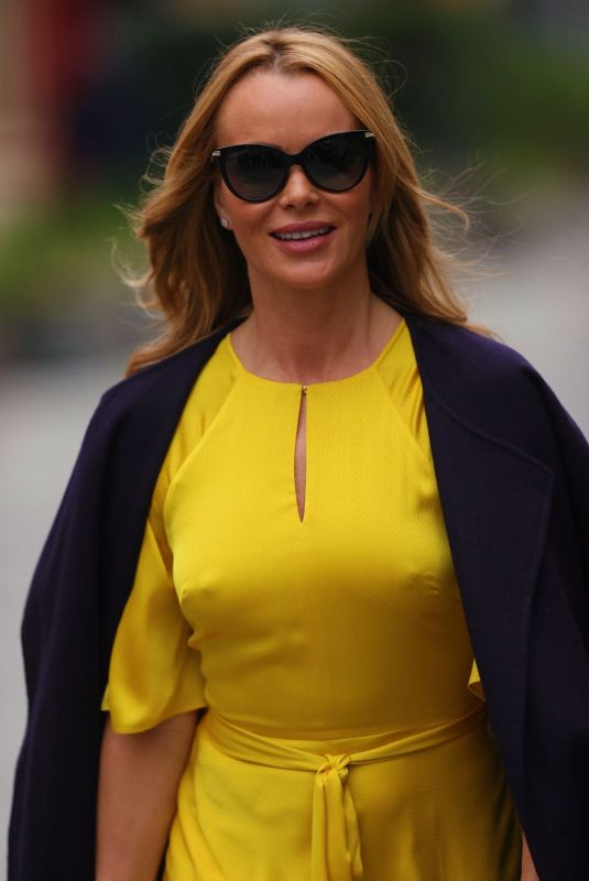 Amanda Holden Heads to Heart Radio in London