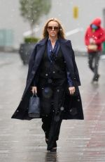 Amanda Holden Pictured wearing an outfit by Zara and Haider Ackerman leaving the Global Radio Studios in London