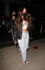 Anastasia Karanikolaou & Kelsey Calemine Leaving dinner with friends at BOA steakhouse in West Hollywood