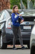 Anna Kendrick Visits a friends house in Los Angeles