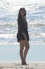April Love Geary & Robin Thicke Seen on the beach in Malibu