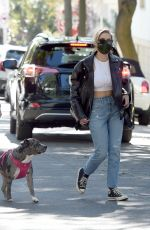 Ashley Benson Out walking her dog in Los Angeles