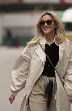 Ashley Roberts Seen leaving Global Studios, Heart FM in London